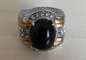 Akik Kecubung Ring Titanium
