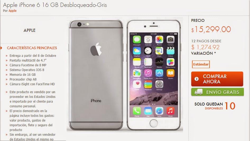 Cuanto Cuesta el Iphone 6 de Apple el Iphone 6