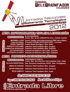 VI JORNADAS NACIONALES DE SOBERANA TECNOLGICA 2012