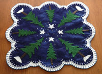 Winter Trees Penny Rug E-Pattern