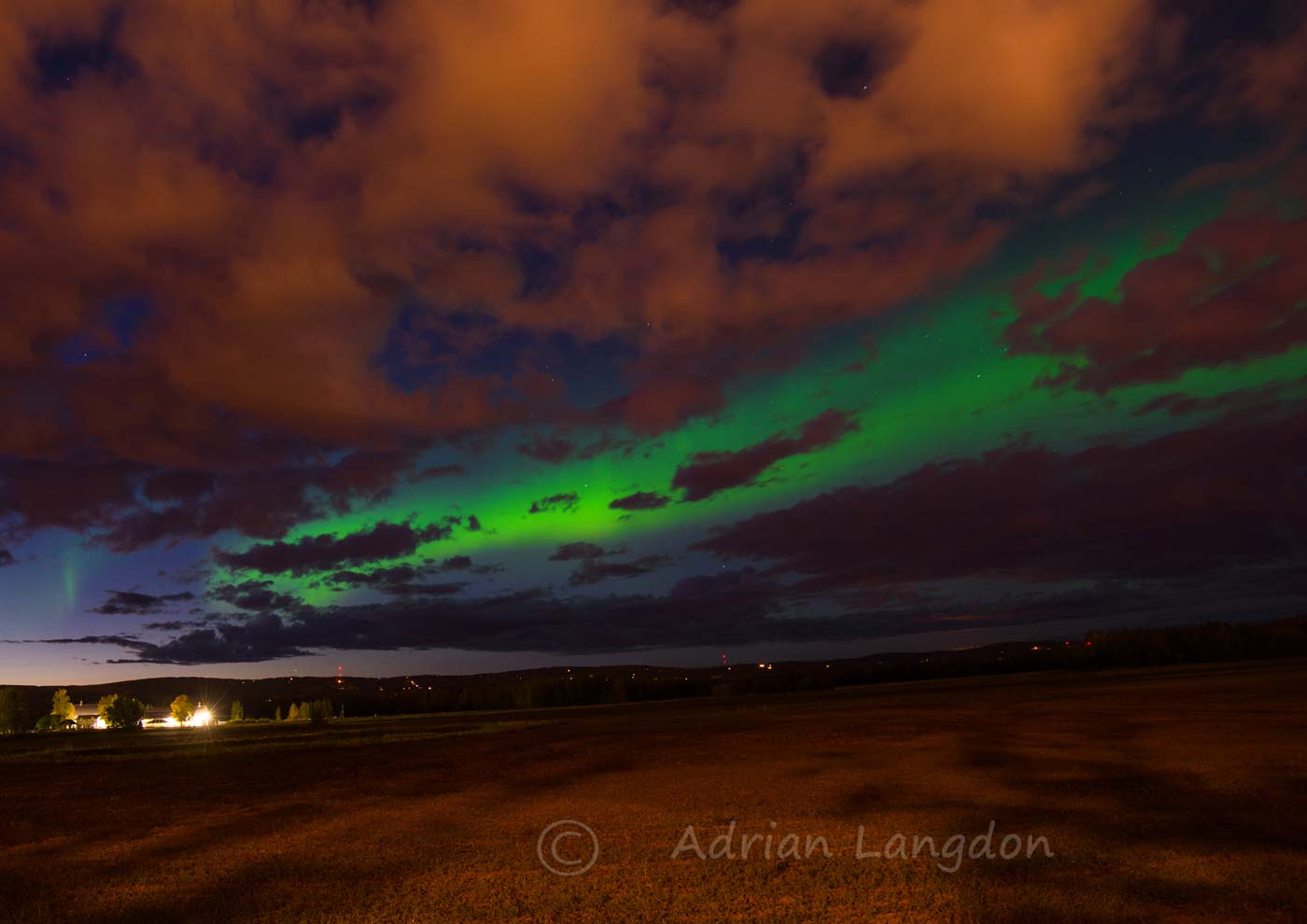 Alaska.... Northern Lights At Fairbanks Tonight. 4th September 2015.
