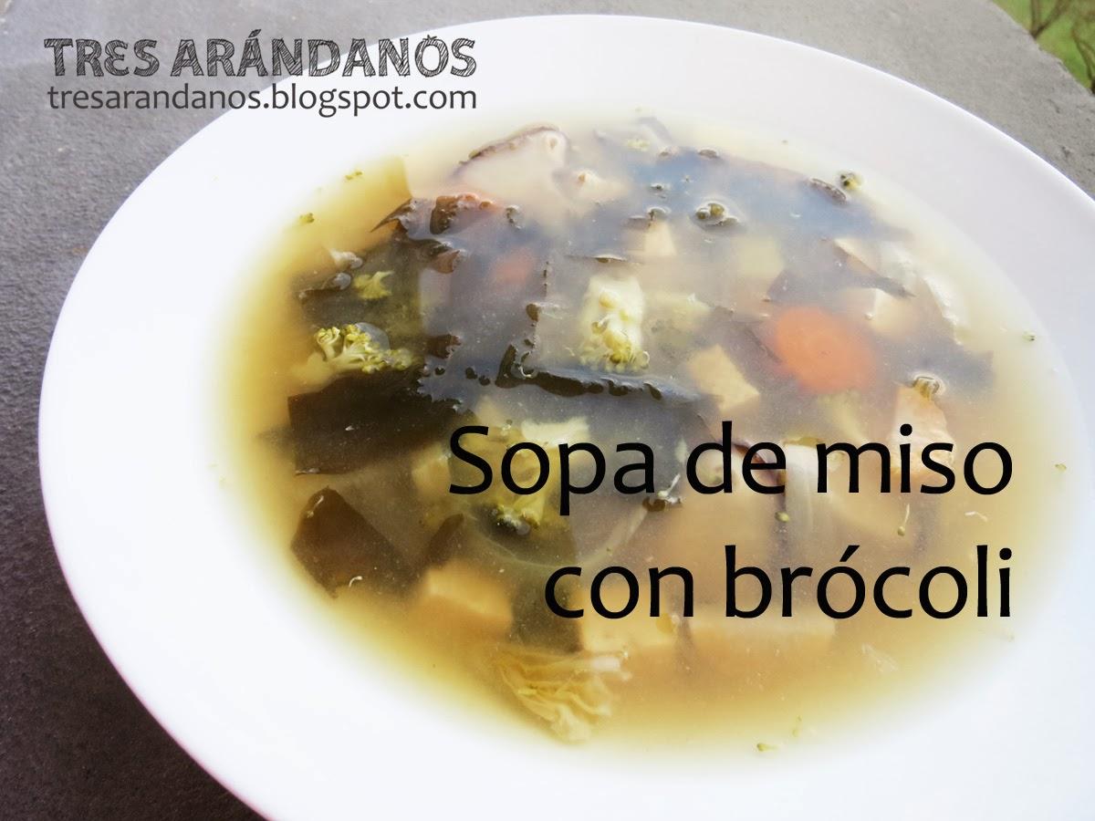 Sopa miso receta