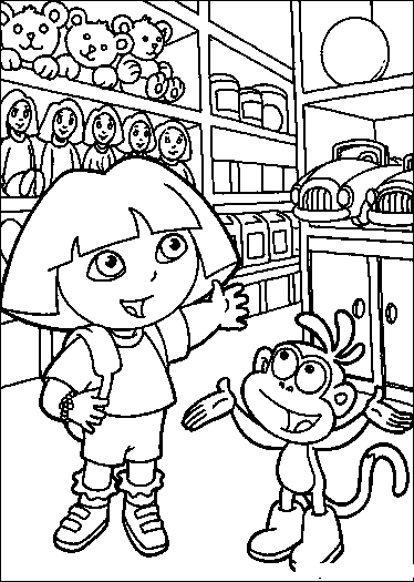Dora Coloring Pages title=