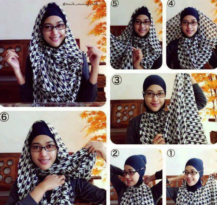 ... jilbab segi empat untuk wajah bulat tutorial jilbab segi empat simple