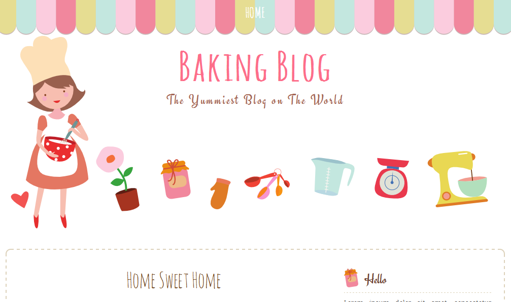 Baking blog free blogger template ipietoon cute blog design 0 comments pronofoot35fo Gallery