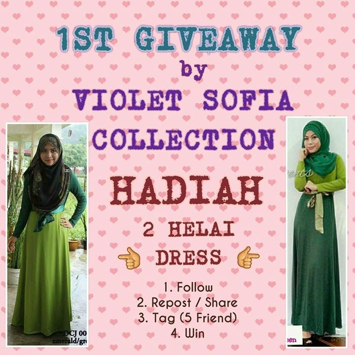 1st Giveaway by Violet Sofia Collection