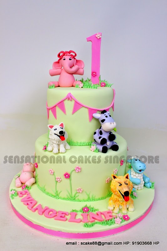 The Sensational Cakes Cute Animals Cake Singapore 1st Birthday