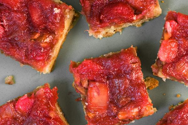 My Favorite Things: Rhubarb-Almond Bars