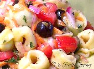 Tortellini Salad, Easy, My Recipe Journey,