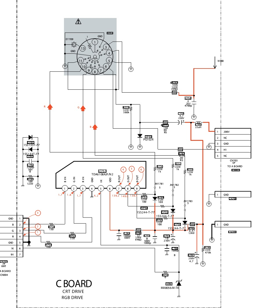 schematic of a crt ac schematics