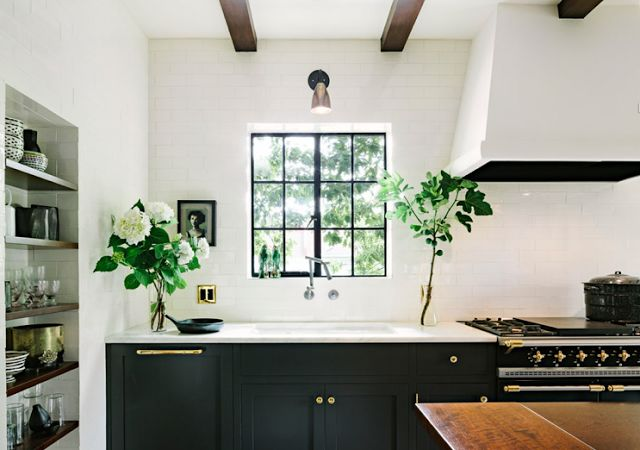 This Kitchen Doesnt Have Shiplap Thats Brick Instead But Would Be A Great Spot For Just Look At Those Pretty Details