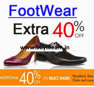 Amazon: Buy Footwear upto 40% off + 40% off from Rs. 119, upto 70% off from Rs. 88, Flat Rs. 299