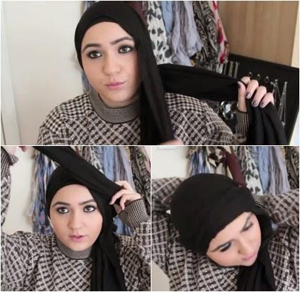 Style Hijab untuk Wajah Bulat Terlihat Lebih Tirus