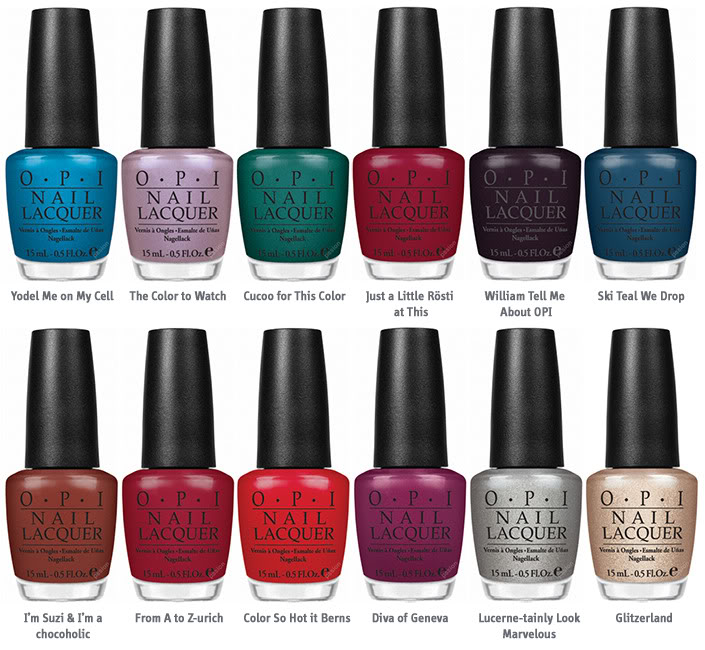List Of Nail Polish Colors: NailEphant: OPI Swiss Collection