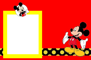 inspired in mickey mouse: free printable party invitations in red, Invitation templates