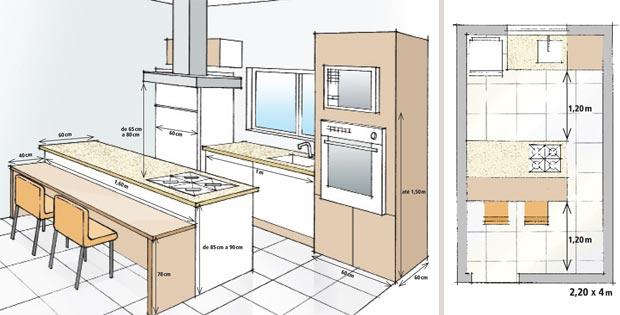 Minha Casa Clean Medidas na cozinha # Altura Minima De Bancada De Cozinha