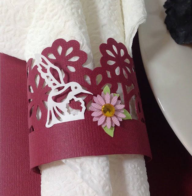paper napkin ring border punch lisa fulmer