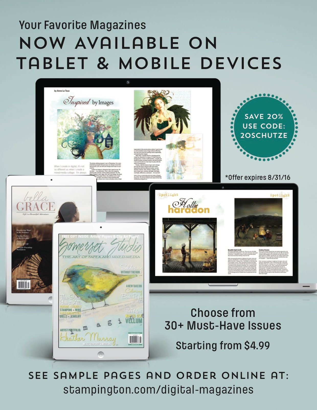 Save 20% of Digital Magazines from Stampington