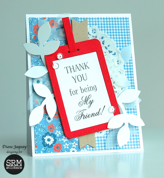 SRM Stickers Blog - Fancy Thank You by Diane - #card #doily #fancy #stickers #thank you