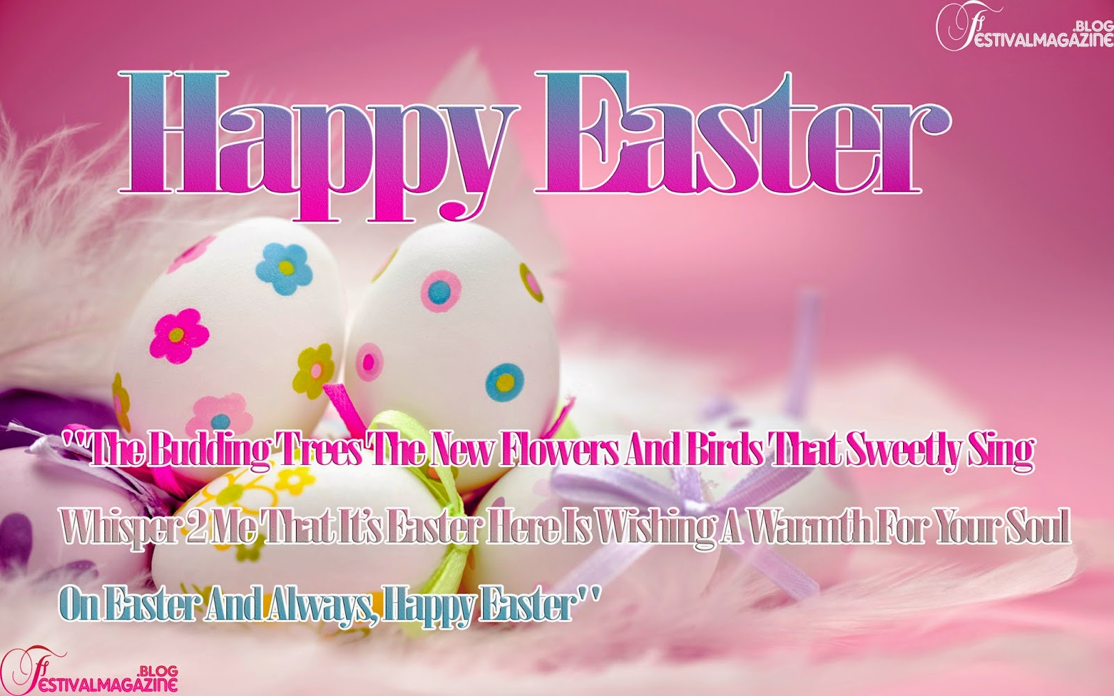 Festival Magazine Happy Easter Day Wallpapers With Greetings Quotes