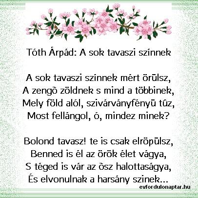 Tóth Árpád - A sok tavaszi színnek