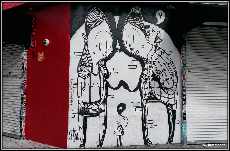 Senna street artist collage personnages Wynwood art district Miami art basel