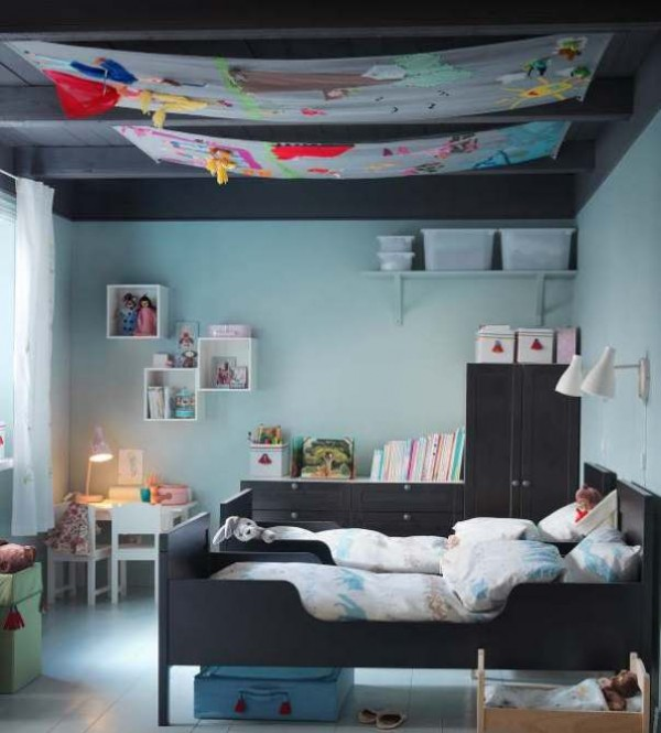 Furniture Bed Catalogue : Awesome kid bed room style thoughts with Sundvix younger bed shape and ...