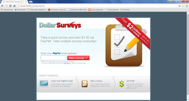 Dollarsurveys.net.in pop-ups
