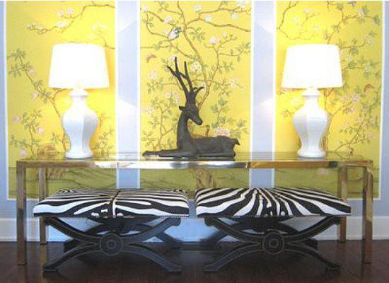 No Doors Zebra Stripes In Interiors