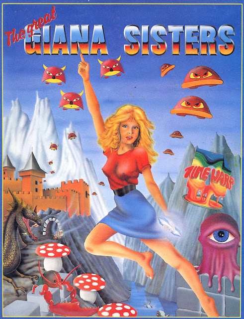Great Giana Sisters Commodore 64 box art