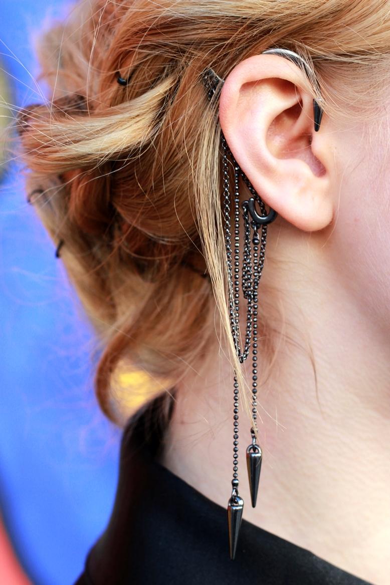 pilgrims earcuff, earcuff pilgrims, earcuff silver spikes, earcuff blogger, pilgrims dk, pilgrims style blogger