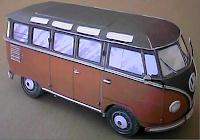Kostenlose Papiermodelle, Kartonmodelle, Bastelbögen zum Ausdrucken, VW Samba Bus
