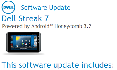 How To Update To Honeycomb 3.2 | Dell Streak Blog