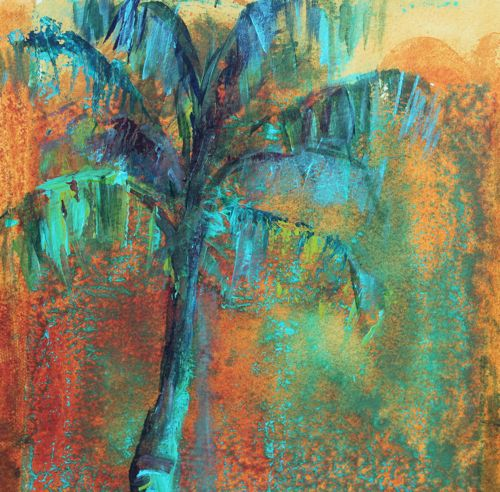 Amy whitehouse paintings august 2013 for Painting palm trees