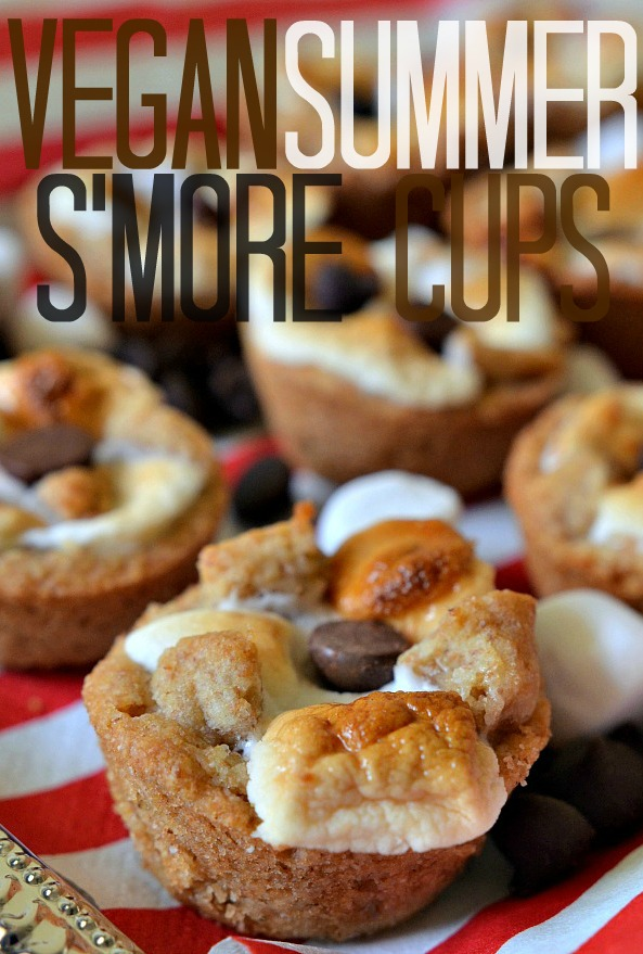 vegan smores with vegan marshmallows