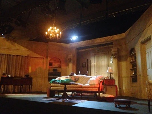 The stage for Dial M For Murder at The Classic Theatre Festival