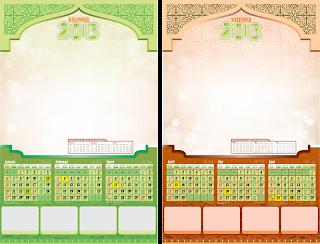 Template kalender 2013 exlusive edition siap pakai