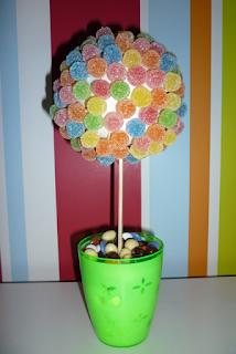 Reciclatex Cómo hacer un centro de mesa con forma de maceta redonda para una fiesta de cumpleaños