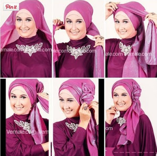 Inilah 7 Contoh Mengkreasikan JIlbab Untuk Pesta