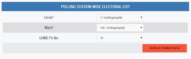 GHMC Polling Station booth Address No.