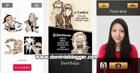 Convierte fotos a caricaturas con Moment CAM