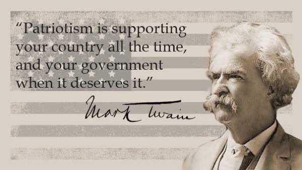 Mark Twain Quotes Patriotism