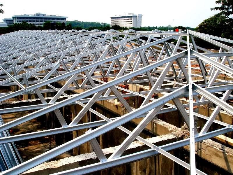 Rangka atap yang sering dipasang di rumah-rumah atau konstruksi
