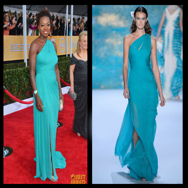 a filha do chefe viola davis Monique Lhuillier dress SAG Awards