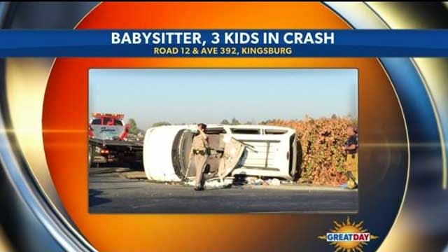 fresno county kingsburg car crash overturned road 12 avenue 392