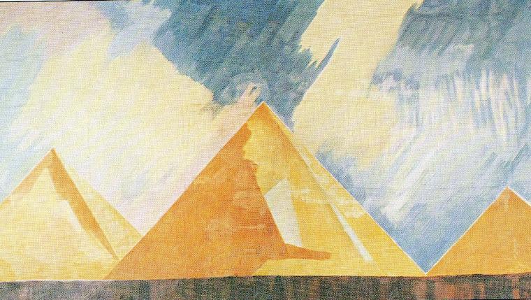 Balé: Cleópatra, com cenários moderníssimos de Robert Delaunay (Paris, 1917).