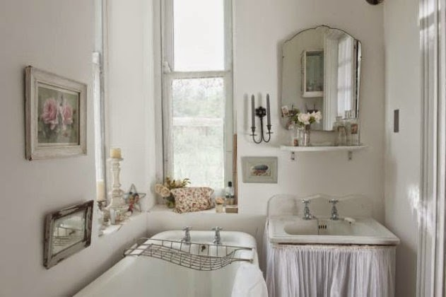paint colors for shabby chic bathroom