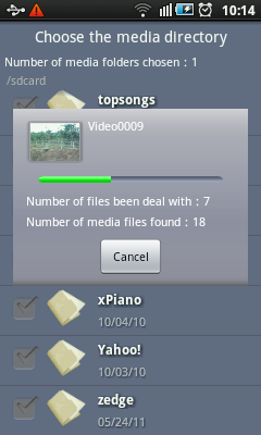 Android Video Player - Scanning Media Files