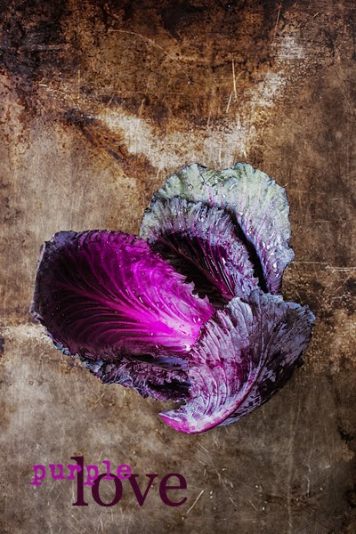 Purple Cabbage Leaves
