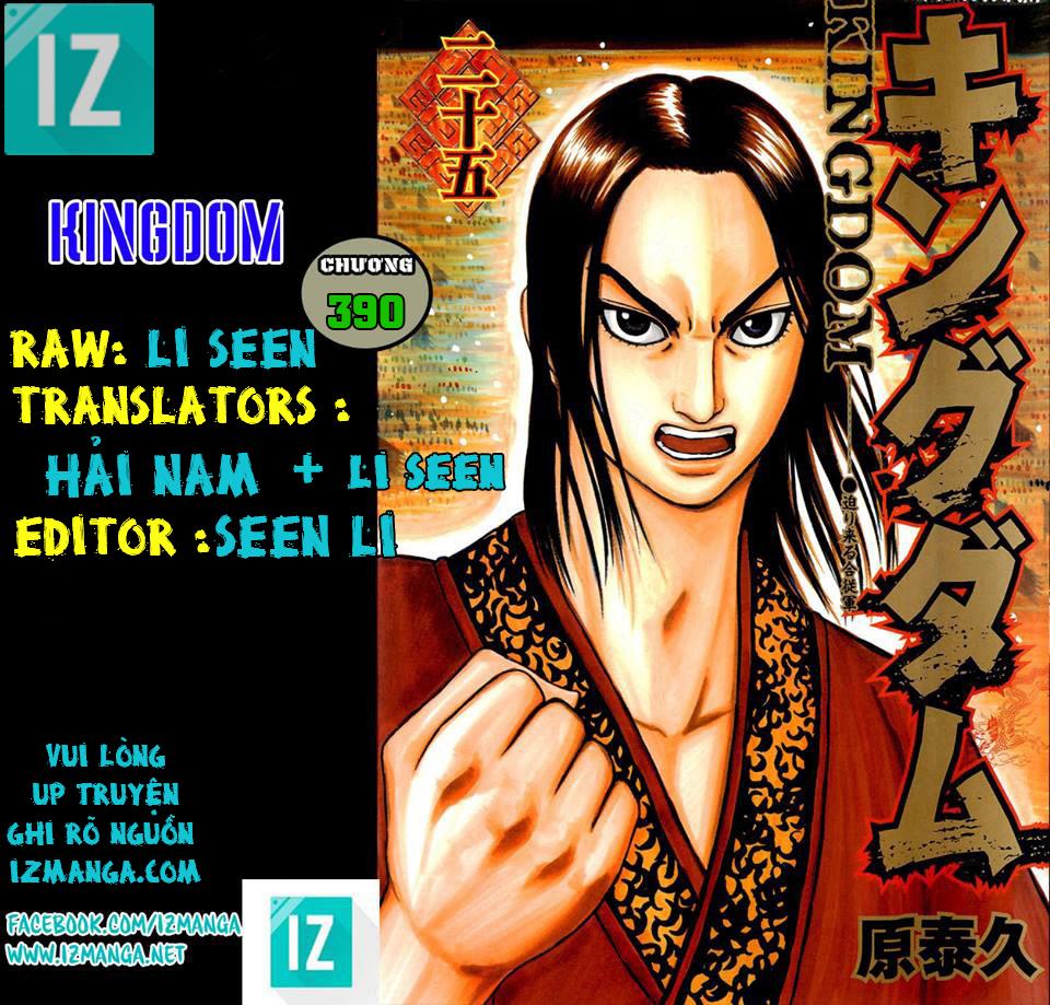 Kingdom - Vương Giả Thiên Hạ Chapter 390 page 1 - IZTruyenTranh.com